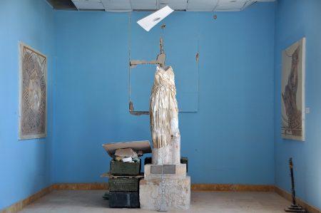 Evacuation des oeuvres au musée de Palmyre